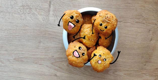 Des petits biscuits apéro au comté